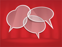 Royalty Free Clipart Image of Speech Bubbles