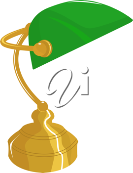 Royalty Free Clipart Image of a Desk Lamp