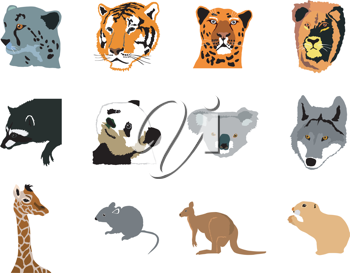 Royalty Free Clipart Image of Animals