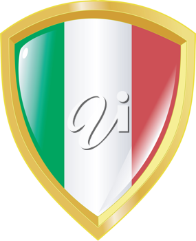 Coat of arms in national colours of Italy