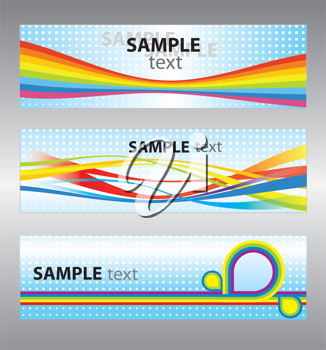 Royalty Free Clipart Image of a Set of Abstract Vector Backgrounds