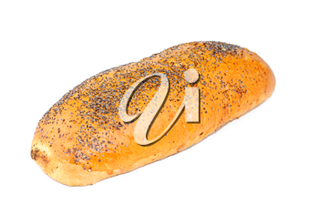 Royalty Free Photo of a Loaf of Bread With Poppy Seeds