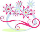 Royalty Free Clipart Image of a Vase With Flowers