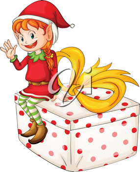 Illustration of a Christmas elf