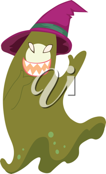 illustration of ghost on white