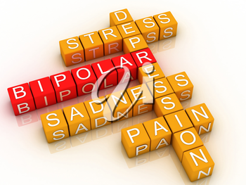 Royalty Free Clipart Image of a Bipolar Disorder Word Cloud
