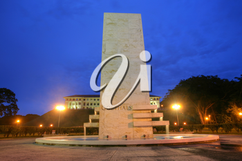 Royalty Free Photo of the Goethals Memorial in Panama.