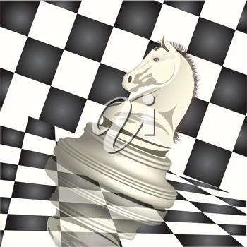 Royalty Free Clipart Image of a Chess Figure