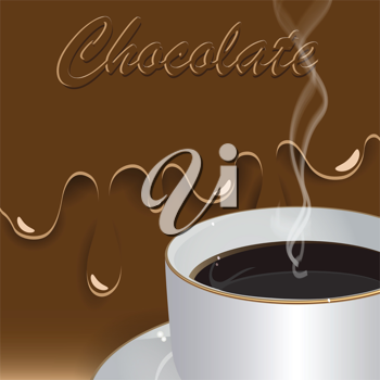 Royalty Free Clipart Image of a Hot Chocolate