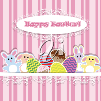 Royalty Free Clipart Image of an Easter Background