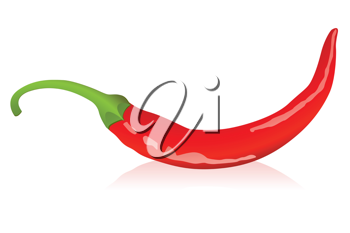 Royalty Free Clipart Image of a Chili Pepper