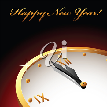 Royalty Free Clipart Image of a New Years Card
