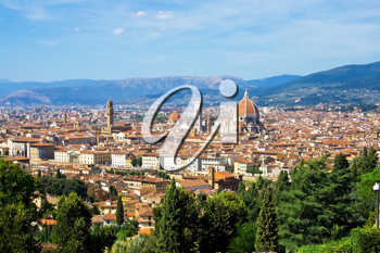 Royalty Free Photo of a Panorama of Florence Italy