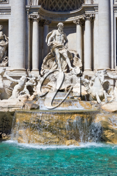 Royalty Free Photo of the Trevi Fountain in Rome