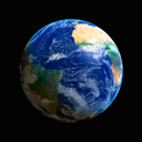 Royalty Free Photo of Earth Showing America, Africa and Atlantic