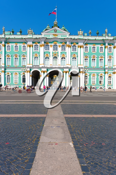 Hermitage Museum - Winter palace of Russian kings,  Saint Petersburg, Russia