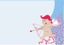 Royalty Free Clipart Image of a Cupid's Background