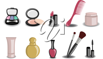 Royalty Free Clipart Image of Beauty Icons