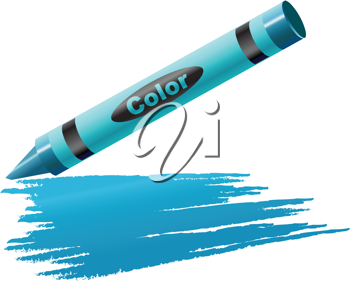 Royalty Free Clipart Image of a Crayon