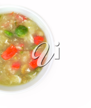Royalty Free Photo of a Bowl of Vegetable Cream Soup