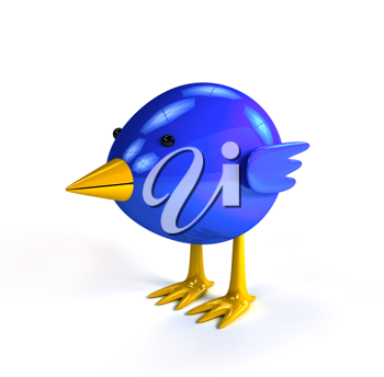 Royalty Free Clipart Image of a Bluebird