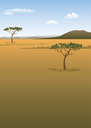 Savanna landscape background