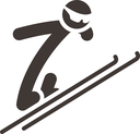 Winter sport icons - ski jumping