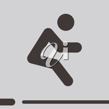 Summer sports icons - long jump icon