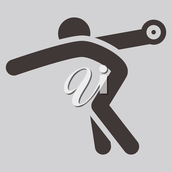 Summer sports icons -  discus throw icon