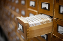 Royalty Free Photo of a Vintage Card Catalog
