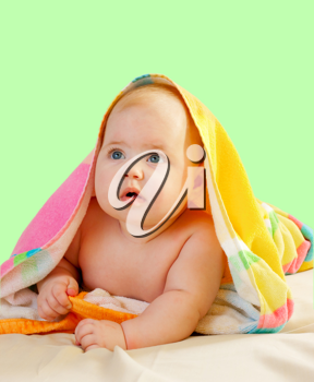 Royalty Free Photo of a Baby in a Towel