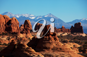 Royalty Free Photo of Arches National Park in Utah