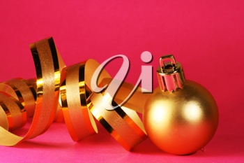 Royalty Free Photo of a Golden Christmas Ball
