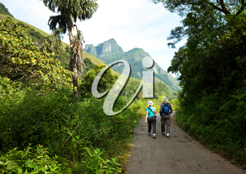 Royalty Free Photo of Hikers in Sri Lanka