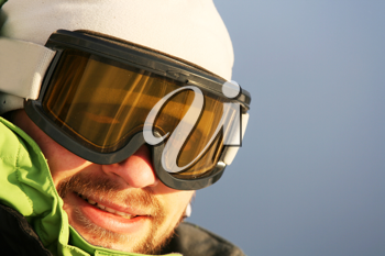 Royalty Free Photo of a Male Skier