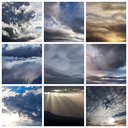 rain clouds collage
