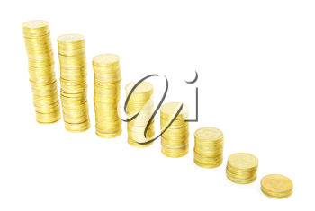 Royalty Free Photo of Stacks of Coins