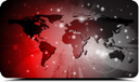 Royalty Free Clipart Image of a World Map Background