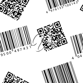 Royalty Free Clipart Image of Barcodes