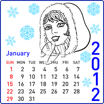 Royalty Free Clipart Image of a Calendar