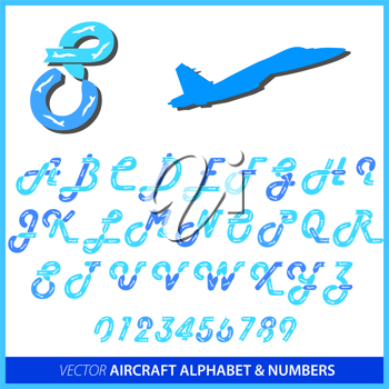 Royalty Free Clipart Image of the Alphabet