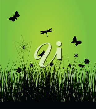Insects have woken up in the spring. A vector illustration