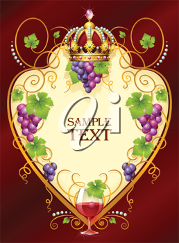 Royalty Free Clipart Image of a Wine Background