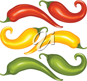 Royalty Free Clipart Image of Peppers