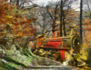 Royalty Free Photo of a Painting of a Steam Train