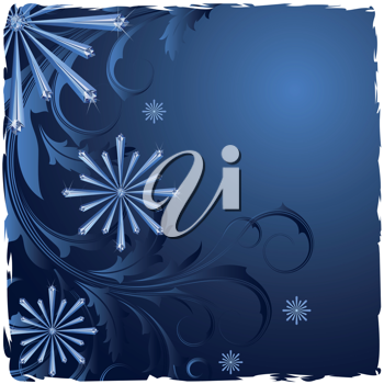 Royalty Free Clipart Image of a Background With Snowflakes