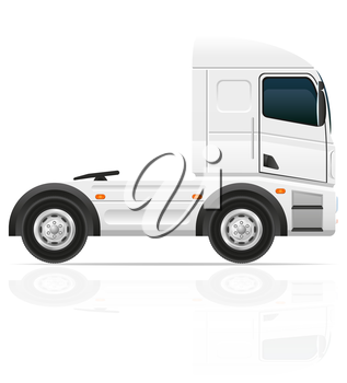 big truck tractor for transportation cargo vector illustration isolated on white background