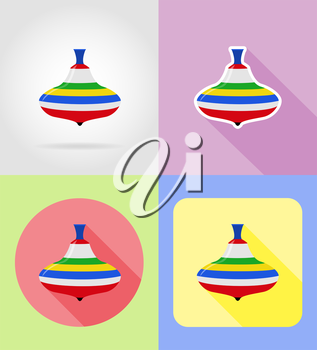 baby toys and accessories flat icons vector illustration isolated on background