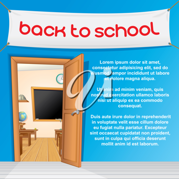 Royalty Free Clipart Image of a Classroom Background