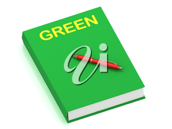 Royalty Free Clipart Image of a Book With the Word Green